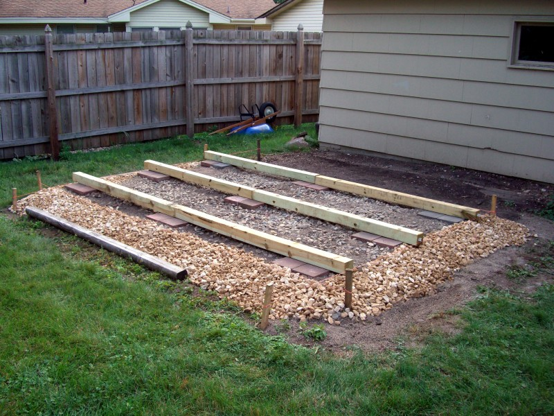 storage shed foundation images - reverse search